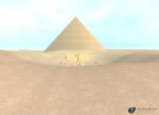 Abydos pyramid as seen from outside